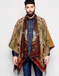 Men's Fall Poncho in Aztec Print Fashion Moda, Mens Fashion, Fashion Outfits, Bohemian Style Men, Moda Hippie, Stylish Mens Outfits, Stylish Clothes, Mens Fall, Best Wear