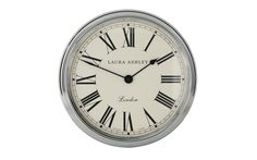 Gallery Chrome Wall Clock at Laura Ashley