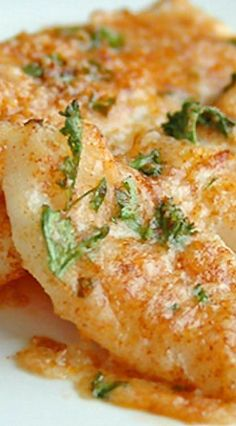Lemon Parmesan Cod with  Garlic Butter