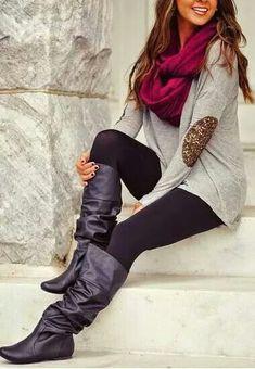 Las botas largas con los blusones y las medias!! Super de temporada de frío ❄