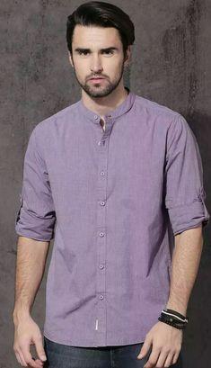 Simple Shirts, Casual Shirts For Men, Men Casual, Men Shirts, Shirt Men, India Fashion Men, Mens Fashion, Fashion Outfits, Mens Kurta Designs