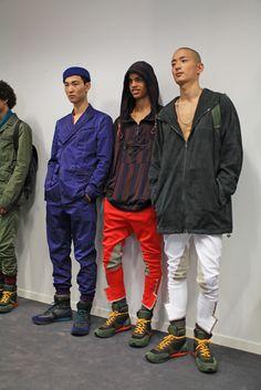 Backstage at Bottega Veneta Men's ready to wear Spring 2016 Park Sung Jin, Spring Collection, Spring 2016, Bottega Veneta, Backstage, Ready To Wear, Korea, Bomber Jacket, Street Style