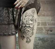 Floral thigh