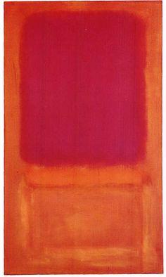Mark Rothko, Centro de Violeta, 1955, Óleo sobre lienzo, 69 y frac12;  x 40 & frac12;  estatura