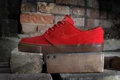 """Nike SB Zoom Stefan Janoski """"Hyper Red"""" Shoes Sneakers, Shoes Sandals, On Shoes, Skate Shoes, Me Too Shoes, Casual Shoes, Casual Sneakers, All Black Sneakers, Dope Fashion"""