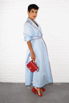 Princess Deena Aljuhani Abdulaziz - Editor in Chief of Vogue Arabia in a Bouguessa Robe Shirt Dress