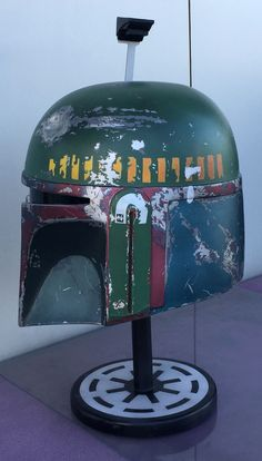 Empire Strikes Back Boba Fett Helmet Side View - Fan Made Boba Fett Helmet, Prop Maker, Empire Strikes, Side View, Star Wars, Good Things, Fan, Costumes, Outdoor Decor