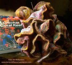 crochet-coral-reef-project Crochet Ruffle, Freeform Crochet, Free Crochet, Crochet Instructions, Color Blending, Fiber Art, Weaving, Coral, Creative