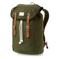 4574b306f552f Sandqvist Backpacks - Sandqvist Hans Condura Green Backpack - Green W  Cognac Brown Leather Coole Rucksäcke