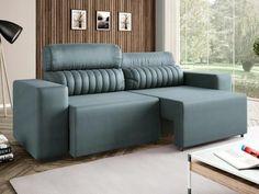 de R$ 1.799,00 por R$ 999,90 Sofá Retrátil e Reclinável 4 Lugares - Revestimento Suede Elite Style Linoforte