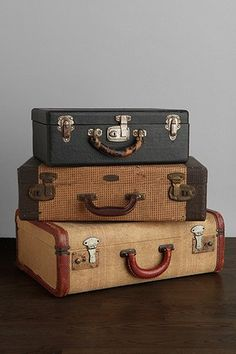 Vintage suitcases for decor