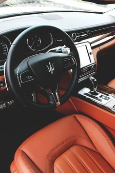 "Luxury Cars Bugatti Expensive Bentley 4 Door Tesla Maserati Ferrari Audi Cadillac Lamborghini Porsche 👉 Get Your FREE Guide ""The Best Ways To Make Money Online"" Maserati Quattroporte, Ferrari, Maserati Car, Rolls Royce, Maserati Interior, Luxury Cars Interior, Jaguar, Macan S, Audi"
