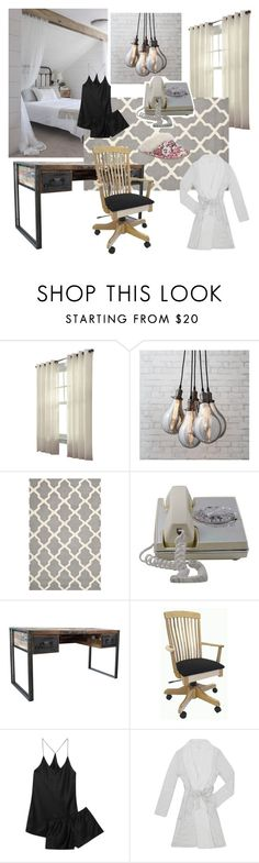 """Vintage Bedroom"" by annalaris on Polyvore featuring interior, interiors, interior design, home, home decor, interior decorating, Safavieh, DutchCrafters, Olivia von Halle and Eberjey"