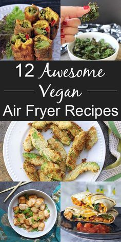 I'm loving my air fryer right now, and I've been collecting vegan air fryer recipes for quick-and-easy breakfasts, lunches, suppers, and snacks.