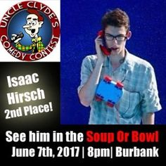 @IBHirsch Advances to the Soup Or Bowl Round June 7th #Clydes #Prizes #Burbank #Uncle