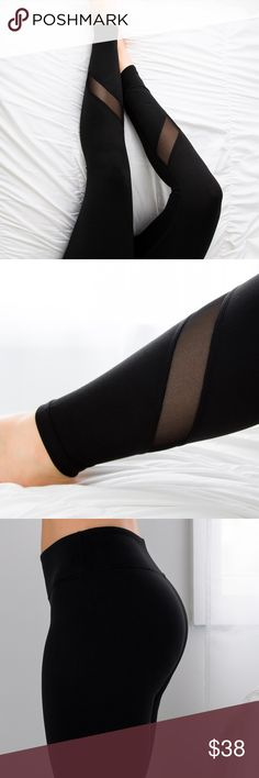 """BatteryParkMesh Workout Pant *LAST! ◽️Workout in style with these sleek mesh pants! Best quality, INCREDIBLY soft material, stretchy + breathable feel, non sheer. Also chic if you love athleisure wear for casual days👟. Stretch waistband is flattering on the tummy. Hidden front pocket. Ankle cropped length. Poly/spandex. 9"""" rise, inseam 28.25"""" unstretched (from M). I am modeling M. Waist across of M is 13.25"""" New ▫Note the size small is sold out, only M and L available - last ones!  ▫Price…"""