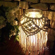 Evening mood by zia🌠🌛 . . #ziahome #ziamakrame #zia #candle #candleholder #eveninglight #eveningmood #egyedikézművestermék #magyarmárka #magyarkezmuves #magyarkészítő #vegyélhazait #hungarianbrand #macramedesign #makramé #macrame #laskasdekor Handmade Home, Candle Holders, Candles, Decoration, Wall, Home Decor, Decor, Decoration Home, Room Decor