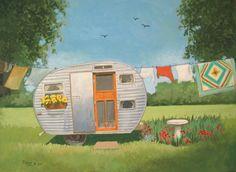 trailer & clothesline