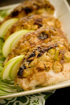 Moppin Chicken Stuffed with Brie and Apples