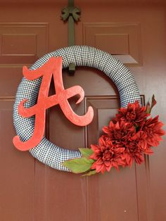 Alabama Football Wreath.... simple and very pretty!