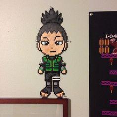 Shikamaru Naruto perler beads by perler_bead101_