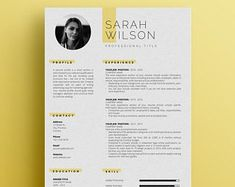 Resume Template 3 Page CV Template Cover Letter / Instant | Etsy Template Cv, Modern Resume Template, Cover Letter Template, Letter Templates, Resume Templates, Cv Design, Resume Design, Letter Icon, Create A Resume