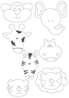 Felt Animal Templates. Cute!