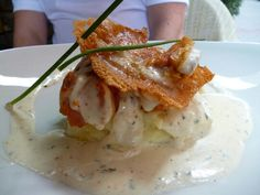 Chicken in cream sauce with goat's cheese - Budapest