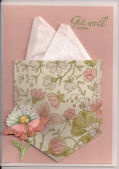 Kleenex Get Well Card - I want to make a few of these.