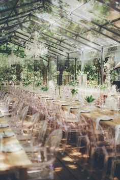 A reception in a greenhouse, yes please
