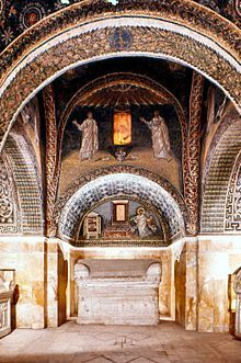 Mausoleum of Galla Placidia, Ravenna, Emilia-Romagna, Italy