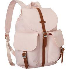 Herschel Dawson Women's Backpack - Cloud Pink - School Backpacks (35.530 CLP) ❤ liked on Polyvore featuring bags, backpacks, pink, pink backpack, day pack backpack, slim backpack, pink bag and stripe backpack