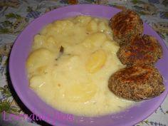 Krumplifőzelék gombafasírttal - A recept elérhető a blogon