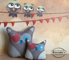 Discount Pirate pair stuffed 0wl kid's room decor - baby pillow - stuffed owl toy - stuffed owl pillow - stuffed cushion - nursery decor by Renouitas on Etsy