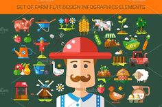 Farm & Agriculture Icons Set by Decorwith.me Shop on @creativemarket
