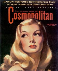 Cosmopolitan Magazine, November 1941. Cover art by Bradshaw Crandell