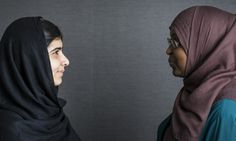 Malala Yousafzai (left) calls FGM campaigner Fahma Mohamed her sister and says they are part of the same struggle for girls' rights. Photograph: David Levene