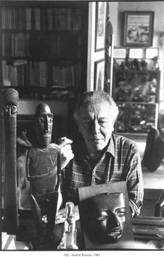 Henri Cartier-Bresson : André Breton chez lui, 42, rue Fontaine, Paris (Primitive Art Collection)