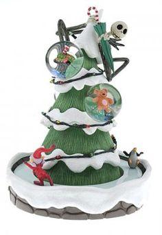 Jack Skellington Christmas tree 3-in-1 musical snowglobe from Fantasies Come True