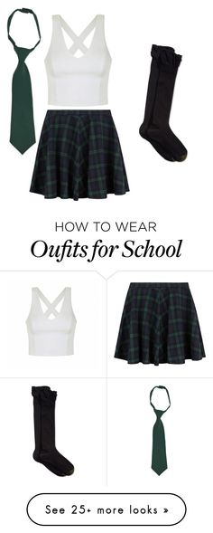 """""""Preppy school girl"""" by ella-brownie on Polyvore featuring moda, Ally Fashion, French Toast e Gold Toe"""