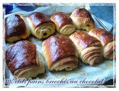 Petits pains feuilletés briochés au chocolat  - La popotte de Manue