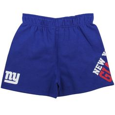 Reebok New York Giants Youth Girls Roll Over Gym Shorts - Royal Blue - $12.99