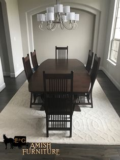 Take One Large Room And Add A Stunning Solid Wood Amish Table And Chairs  And Get