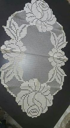 croche Nail Desing m&m nail design lublin Crochet Placemats, Crochet Table Runner, Crochet Borders, Crochet Flower Patterns, Crochet Art, Crochet Home, Thread Crochet, Crochet Motif, Crochet Designs
