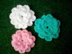 Silles hantverk: Virkad blomma 2 - gratis beskrivning