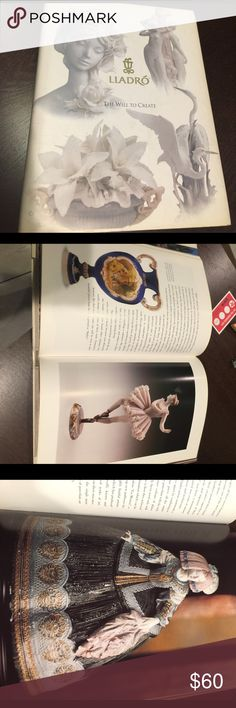 """LLADRO """"The Will To Create"""" hardcover 282 Pgs LLADRO reference coffee table book.  Large color pages of famous snd long retired Lladro's.  Book was photographed with Slip cover on, it will be included in the sale.  Book Is in perfect, like new condition. No missing pages, dog ear pages, or writing.  Book was published in the 1990's.  282 pages. Lladro Accessories"""
