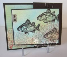 What a beautifully colored By the Tide card by LeeAnn! Details included.