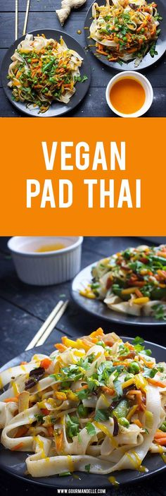Here's how to make a quick and easy vegan Pad Thai. Enjoy a flavorful, vibrant Asian meal in under 30 minutes! #veganrecipes #asian #thailand