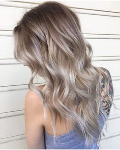 Here's Every Last Bit of Balayage Blonde Hair Color Inspiration You Need. balayage is a freehand painting technique, usually focusing on the top layer of hair, resulting in a more natural and dimensional approach to highlighting. Cool Blonde Hair Colour, Warm To Cool Blonde, Winter Blonde Hair, Dark Ash Blonde Hair, Brown Blonde, Ashy Hair, Cool Toned Blonde Hair, Ash Hair Colour, Blonde Hair Fall 2018