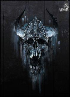 Dark Vampire Skull